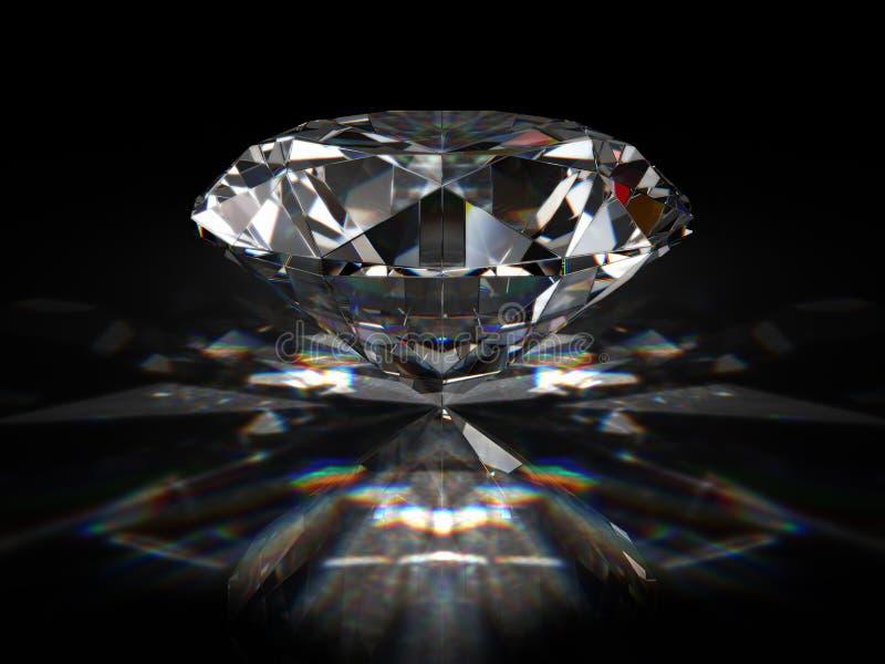 Briljante diamant stock illustratie