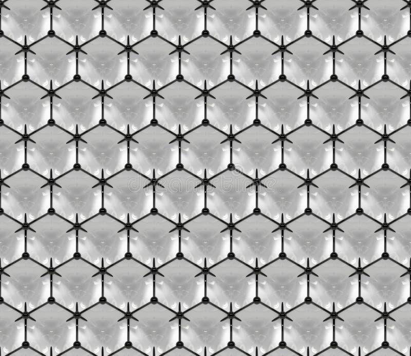 Briljante driedimensionele die oppervlakte door een patroon van verbonden (naadloze) gebieden wordt ontworpen vector illustratie