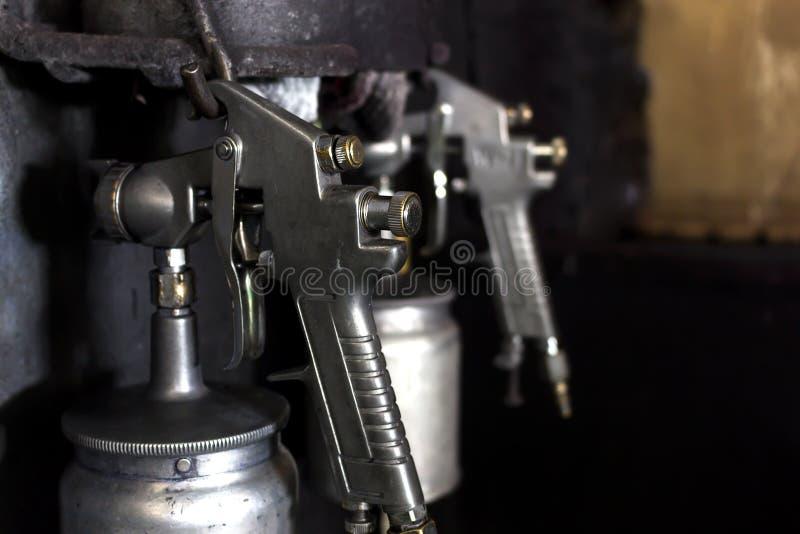 Briljante spuitpistool van het close-up het oude metaal stock afbeeldingen