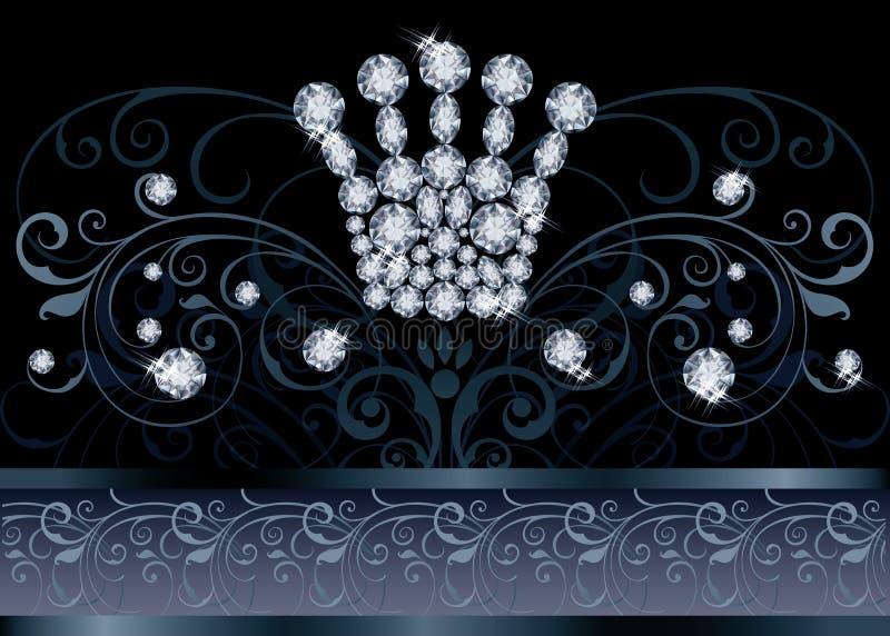 Briljante VIP van de Koninginkroon groetkaart vector illustratie