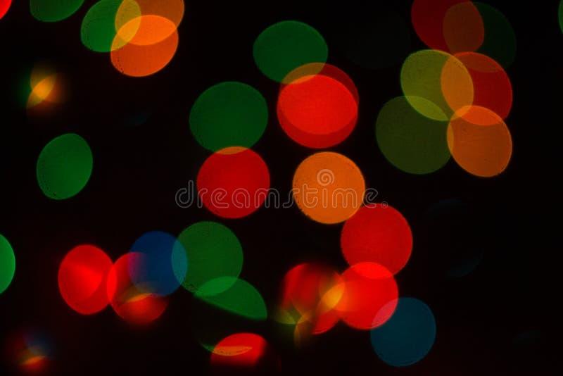 Brilla intensamente el bokeh colorido fotos de archivo