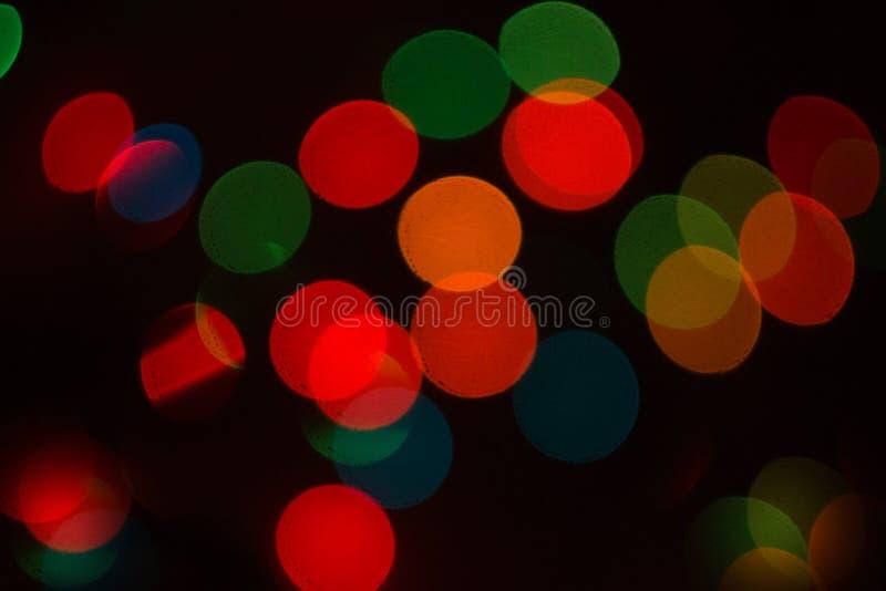 Brilla intensamente el bokeh colorido imagen de archivo libre de regalías
