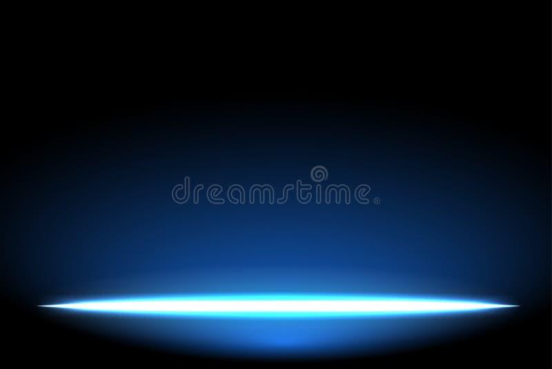 Brilla intensamente el efecto luminoso sobre azul marino ilustración del vector