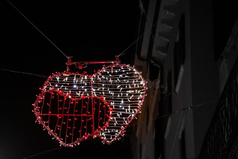 Brillamment décoré pour célébrer la Saint-Valentin photographie stock libre de droits