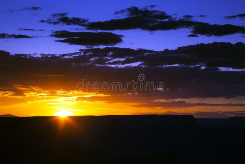 Brillant Sunset at the Grand Canyon National Park, Arizona royalty free stock photography