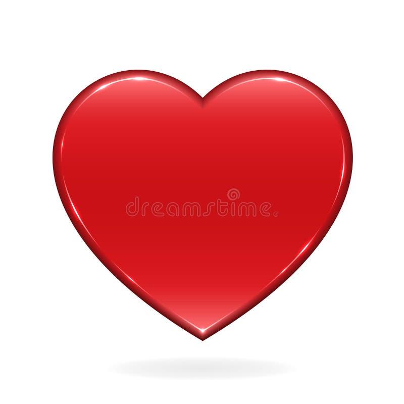 brillant rouge de coeur illustration de vecteur