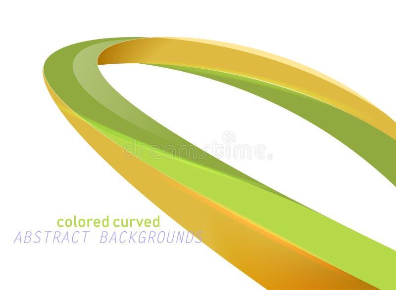 Brillante colorato curvo su un bianco illustrazione di stock