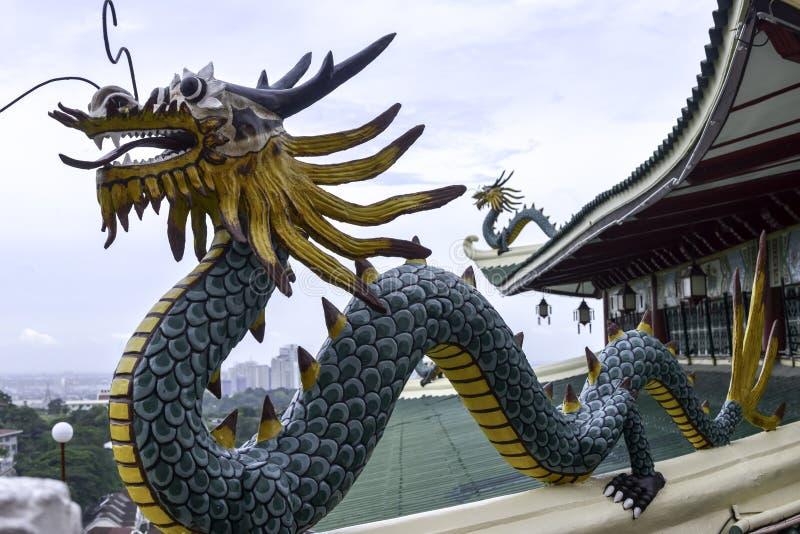 Brillante del día de Cebú Filipinas del templo del Taoist coloreado hermoso foto de archivo