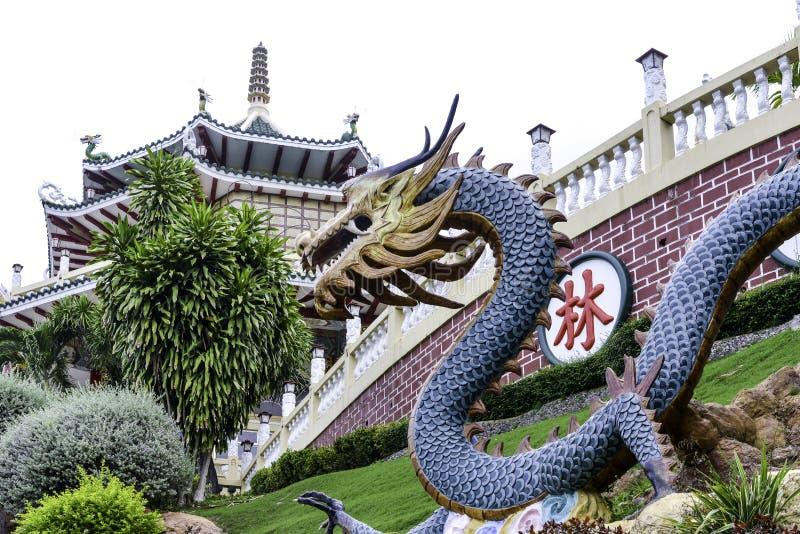 Brillante del día de Cebú Filipinas del templo del Taoist coloreado hermoso fotos de archivo