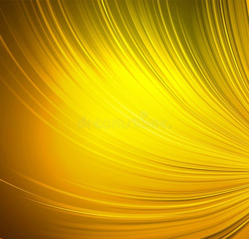 Brillantemente fondo della tenda dell'oro illustrazione di stock