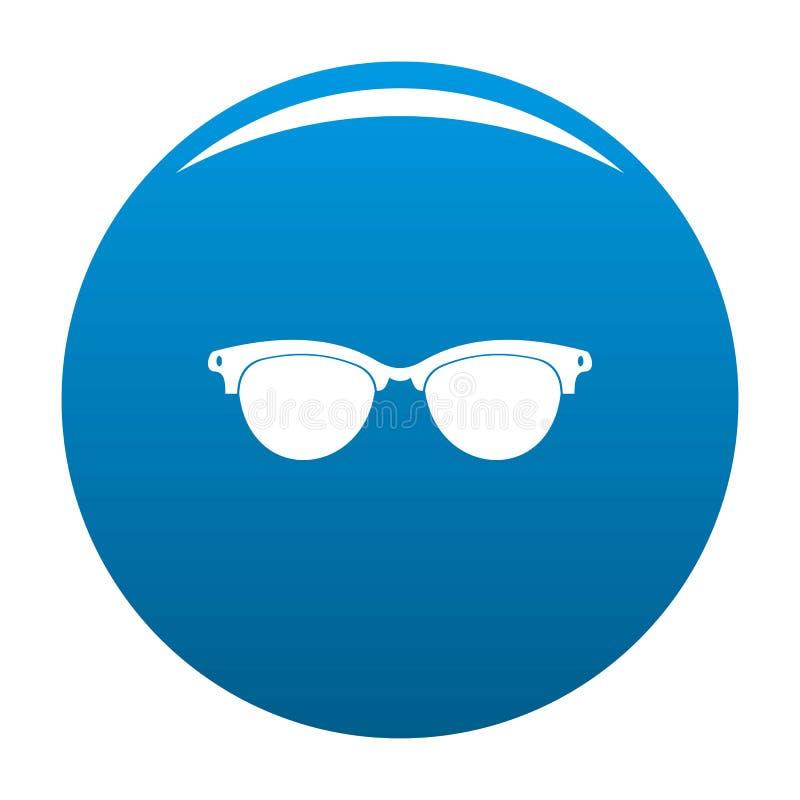 Brillen für blinden Ikonenblauvektor lizenzfreie abbildung