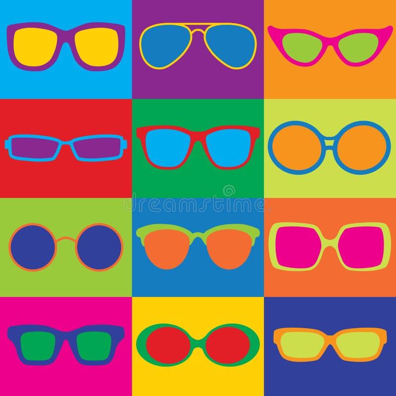 Brillen-Schachbrett stock abbildung