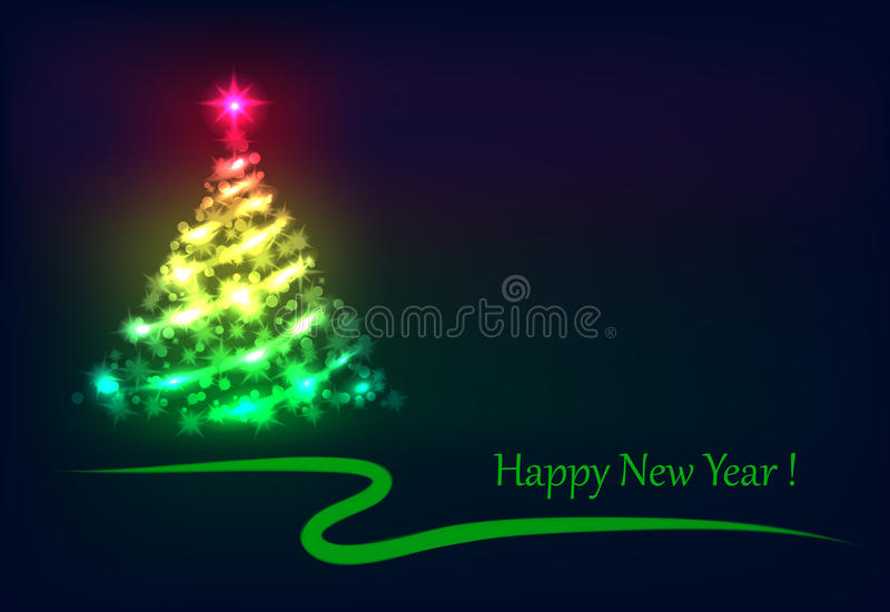 Briller d'arbre de Noël photo libre de droits