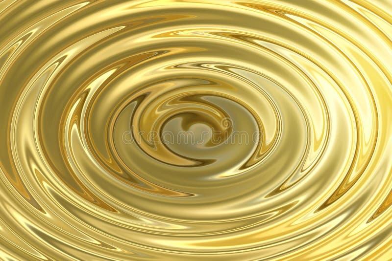 Briller léger sur l'ondulation de l'eau d'or, fond abstrait de texture illustration de vecteur