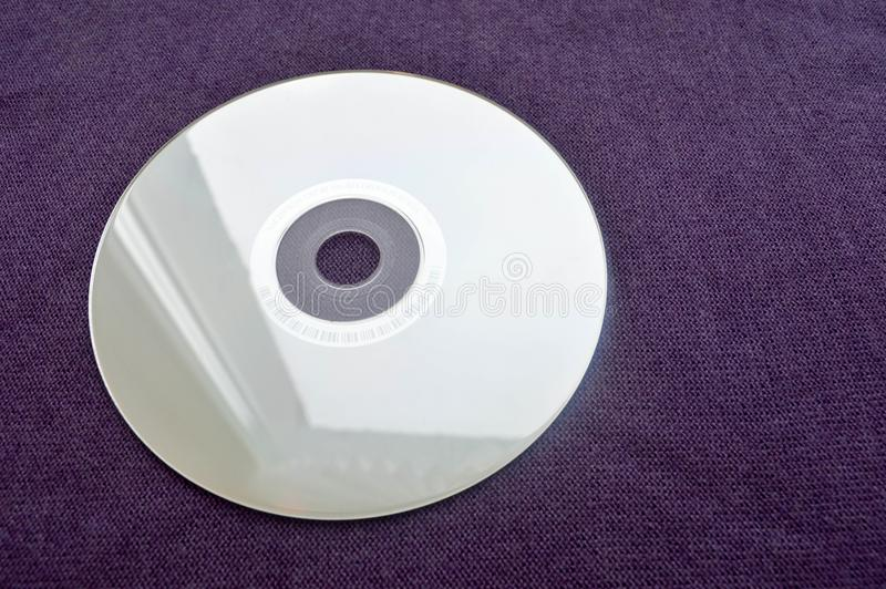 Brilliant compact disc. CD, DVD, Bluray disc royalty free stock photography