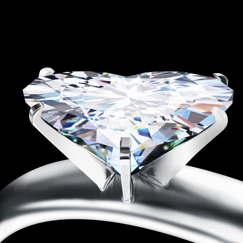 Download Brilliant Cut Heart Diamond Stock Illustration - Image: 22718334