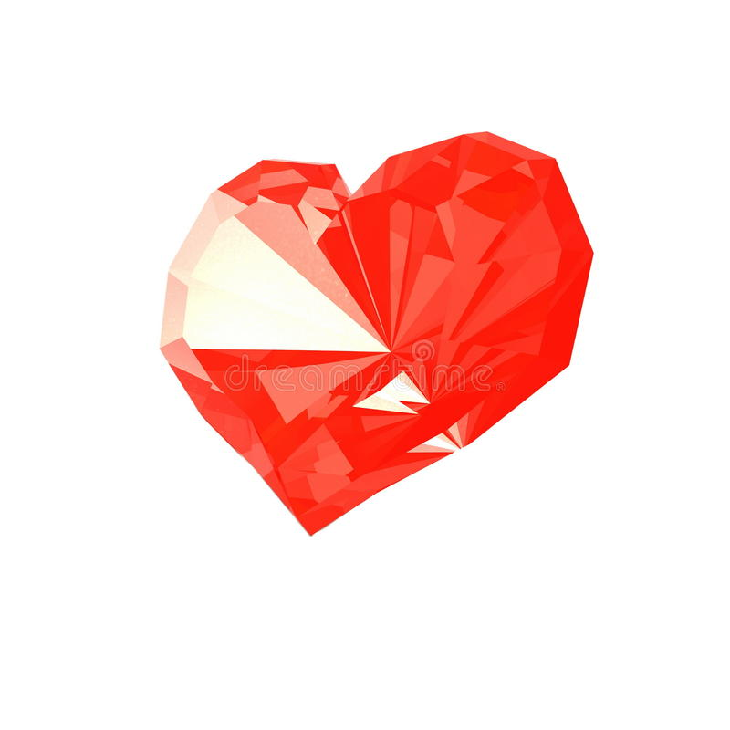 Download Brilliant heart stock illustration. Illustration of crystal - 23065235
