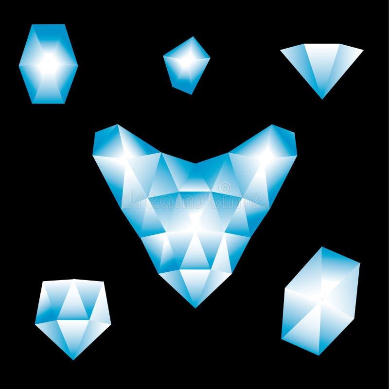 Download Brilliant heart stock vector. Illustration of icon, elegance - 7701259