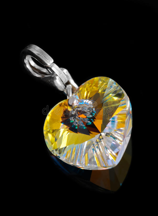Download Brilliant heart pendant stock image. Image of clip, black - 19326675