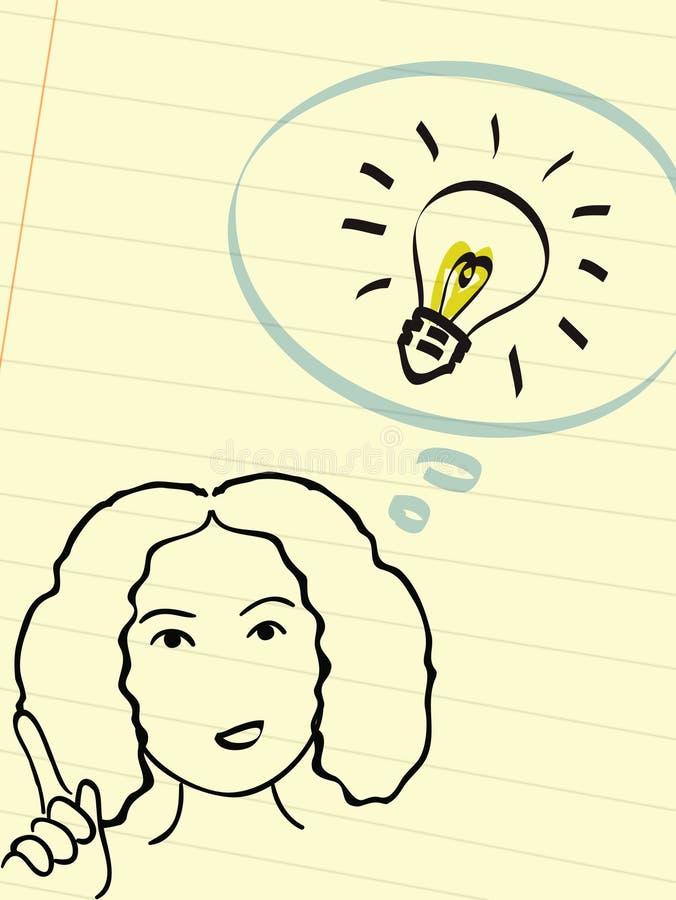 Download Brilliant idea! stock illustration. Image of great, bulb - 18020051