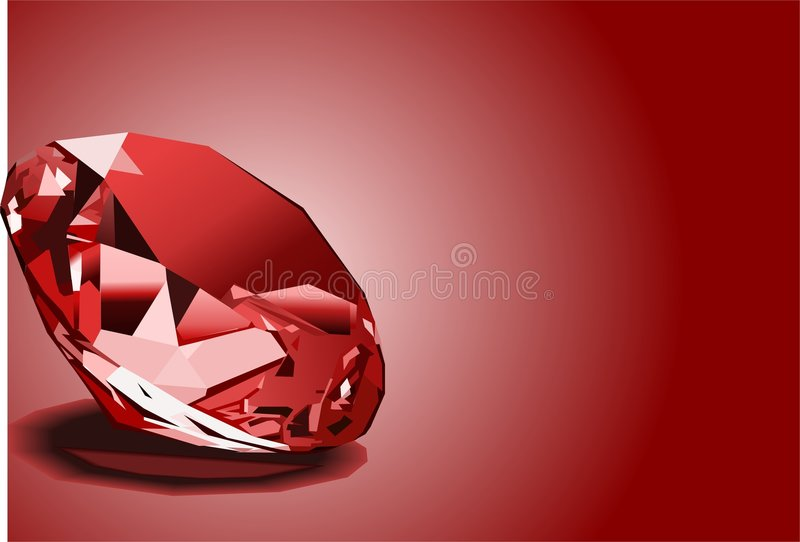 Brilliant red ruby royalty free illustration