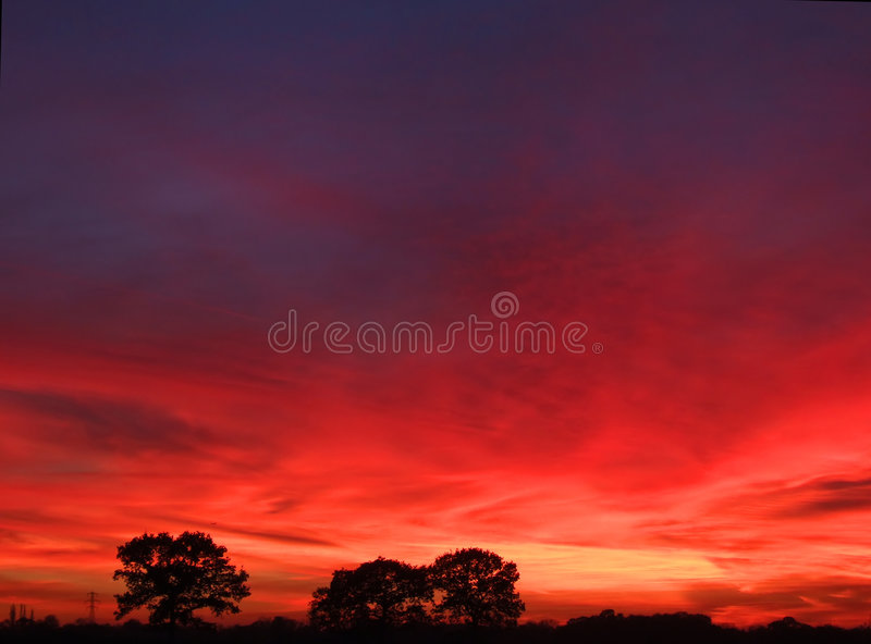 Brilliant Sunset Royalty Free Stock Image