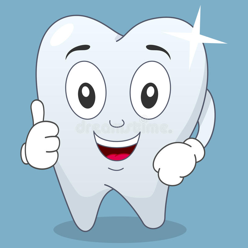 Download Brilliant Tooth Character With Thumbs Up Stock Vector - Image: 41184872