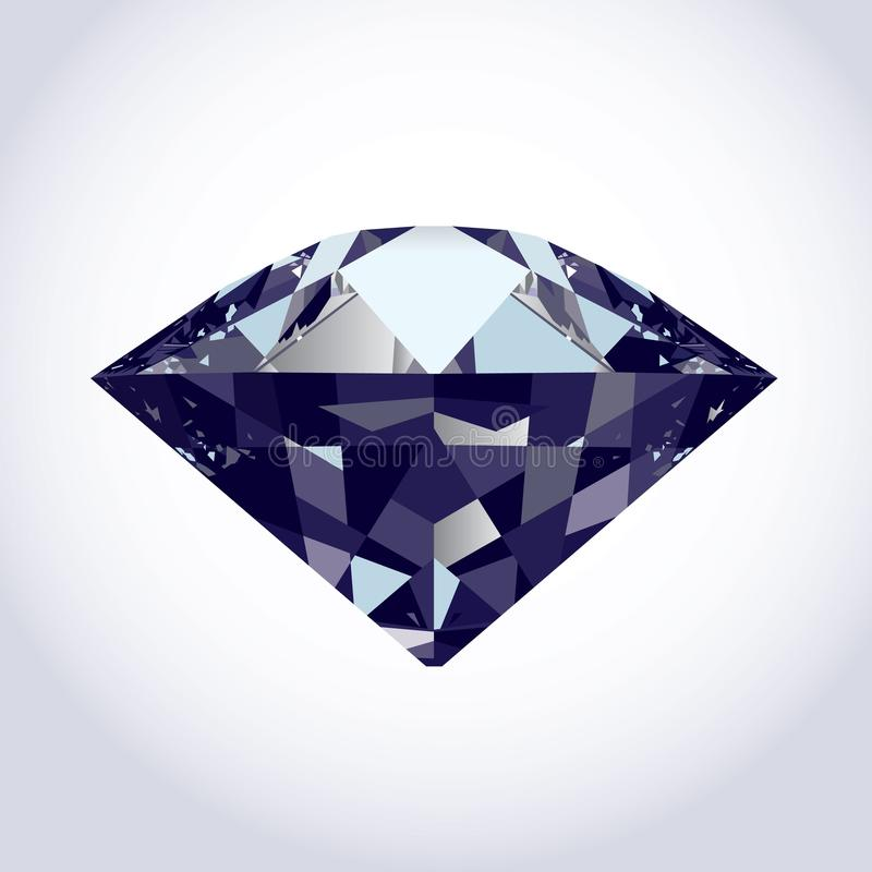 Brilliant Vector Diamond Stock Photography