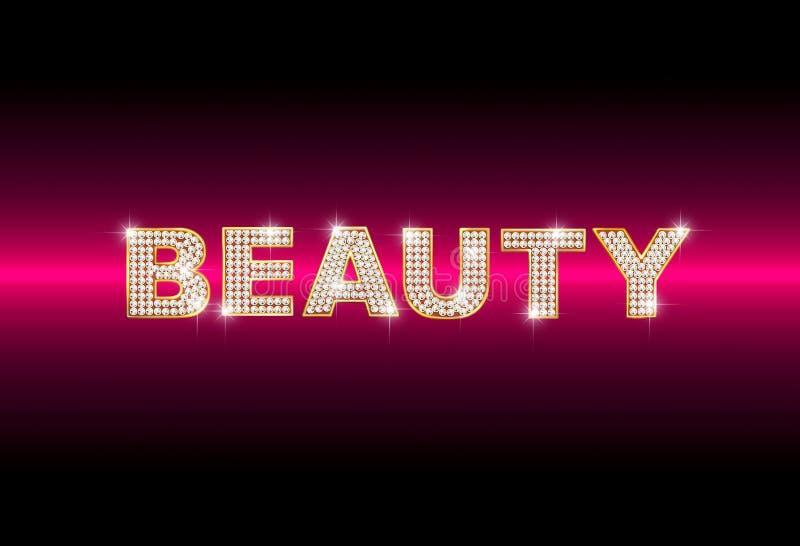 brilliant word beauty stock illustration illustration of