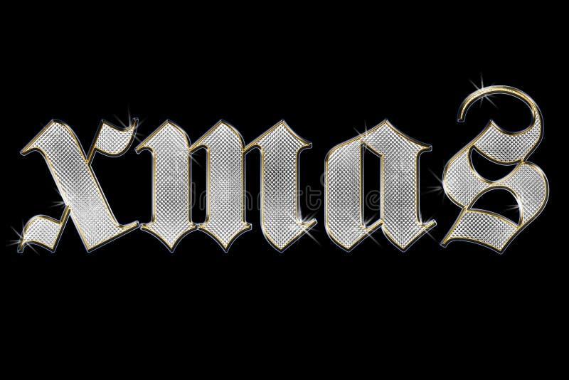 Brilliant word xmas on black background vector illustration