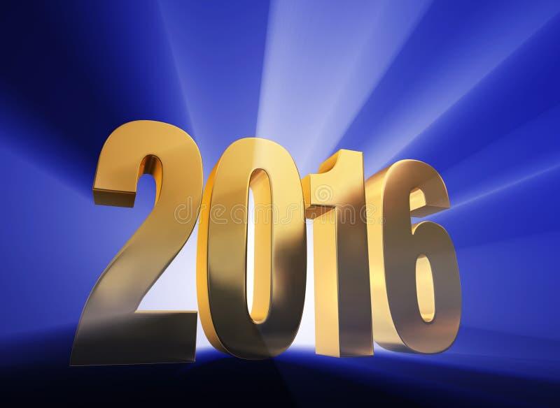 2016! stock illustration