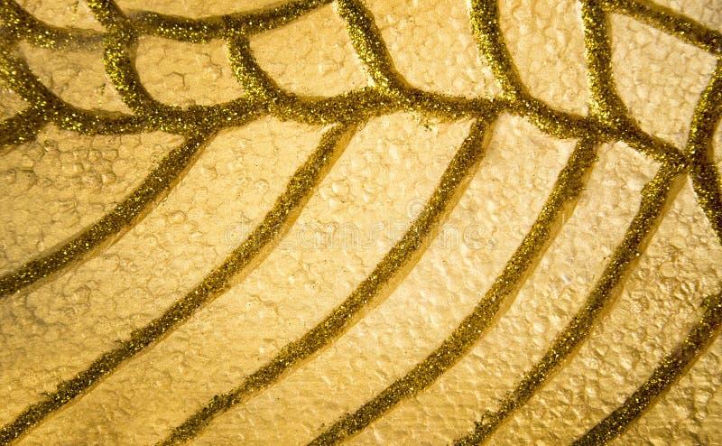 Brillo abstracto del oro y decoración amarilla de la espuma fotografía de archivo libre de regalías