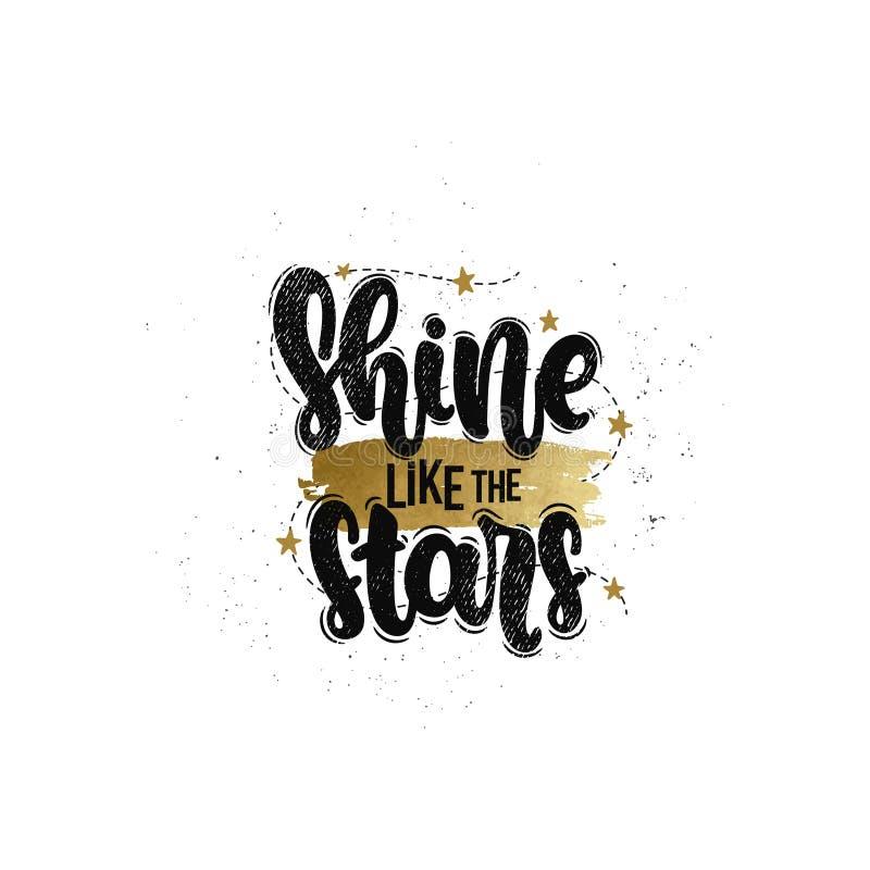 Brillo como las estrellas stock de ilustración