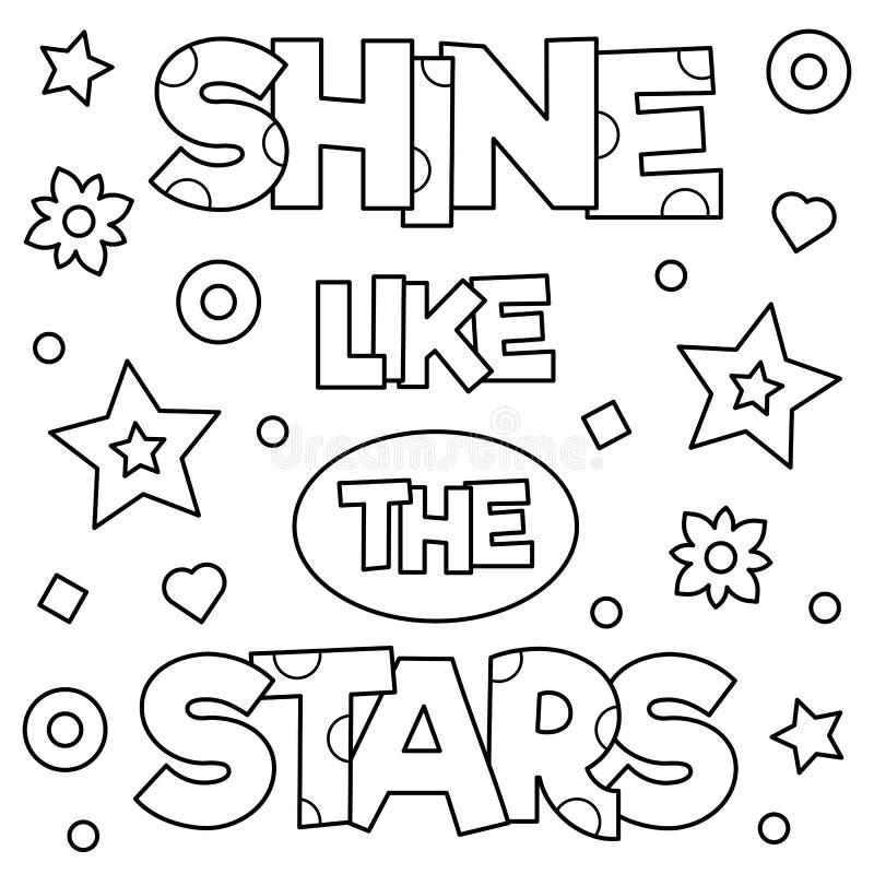 Brillo como las estrellas Página que colorea Ilustración del vector ilustración del vector