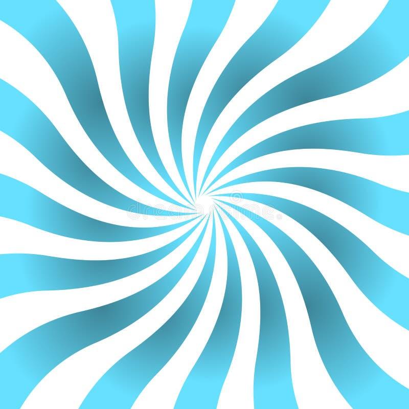 Brillo de la estrella del cartel de los rayos del azul ondulado stock de ilustración