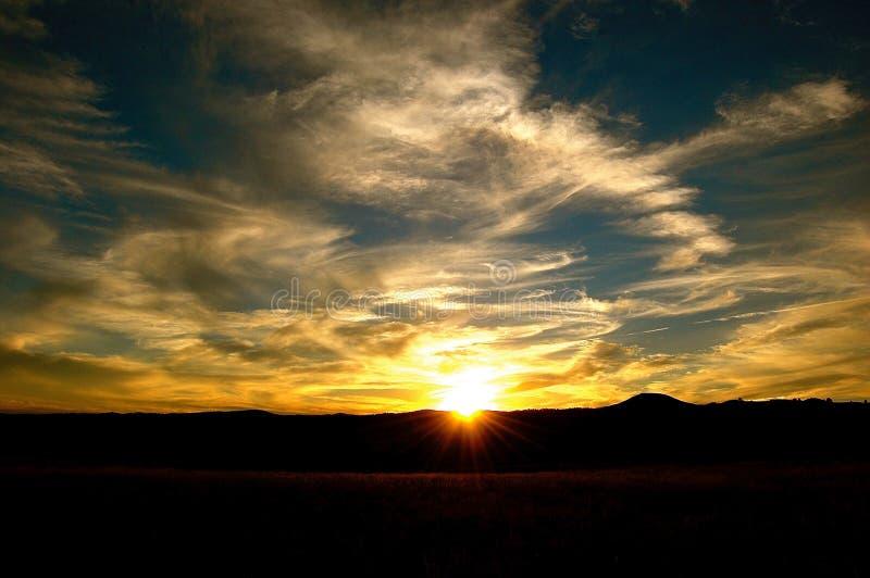 Brillo de los rayos de Sun como fija foto de archivo libre de regalías