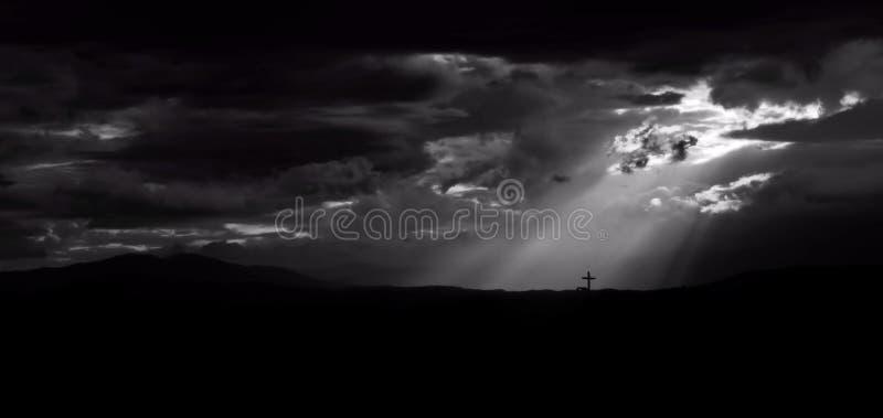Brillo de una luz en la fe foto de archivo