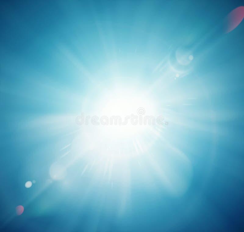 brillo del sol stock de ilustración
