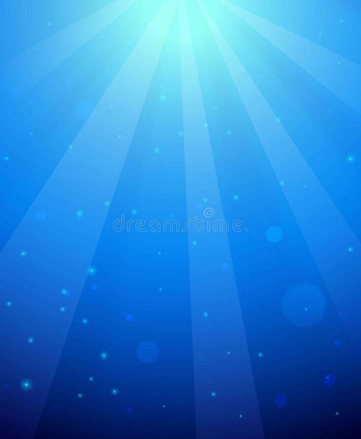 Brillo ligero de Sun a través de superficie del agua libre illustration