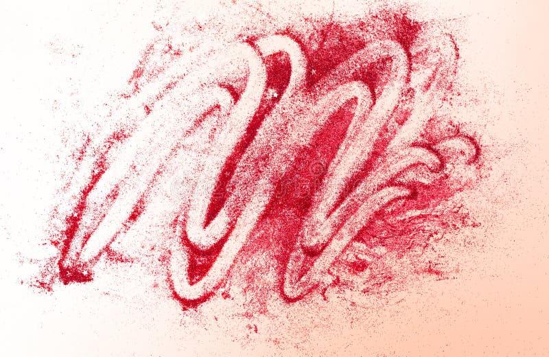 Brillo rojo con las estrellas en el fondo abstracto del begie para las tarjetas del día de San Valentín, el cumpleaños, el aniver foto de archivo