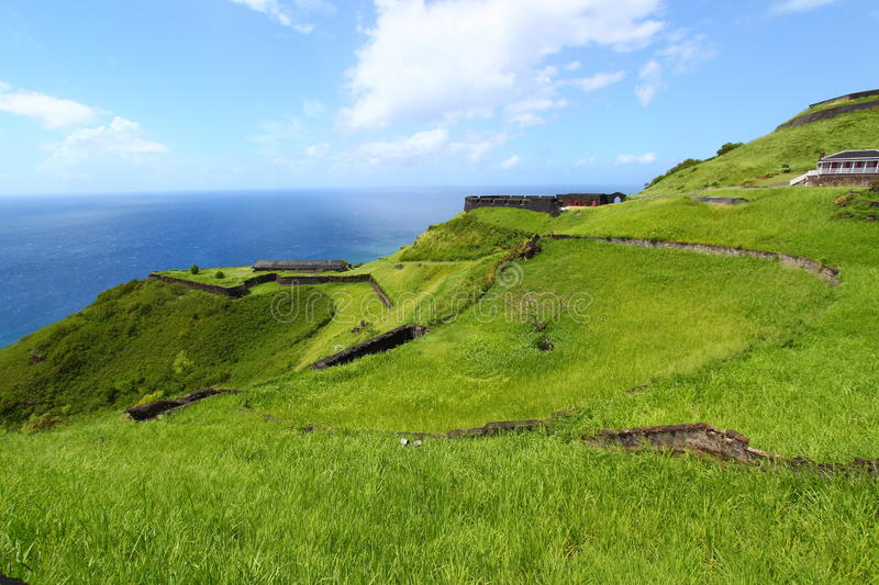 Brimstone Hill Fortress - St Kitts stock images