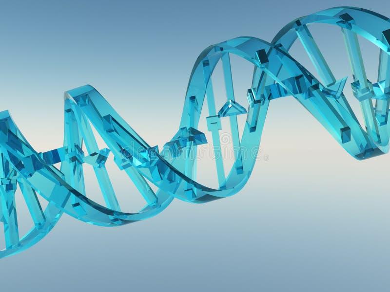 Brin d'ADN illustration de vecteur