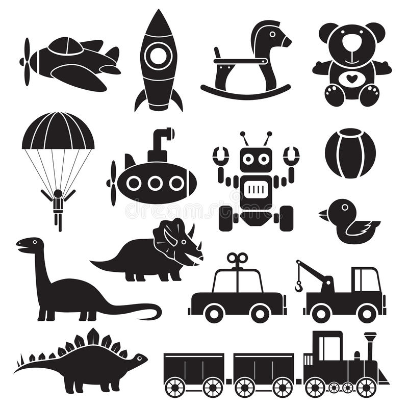 Brinca o ícone ilustração stock