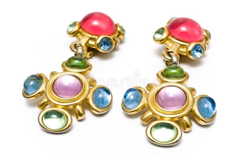 Brinco com gemas imagem de stock royalty free