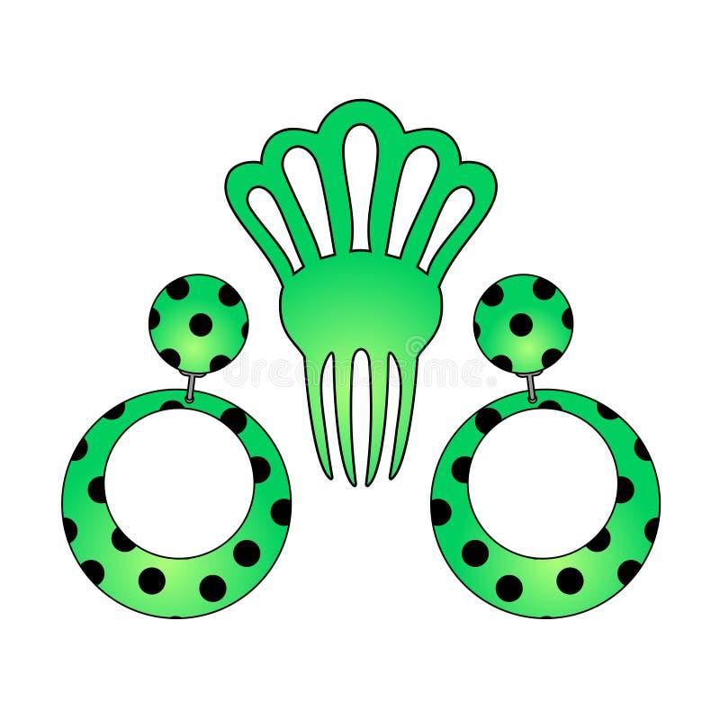 Download Brincos da Andaluzia ilustração do vetor. Ilustração de creativo - 80102379