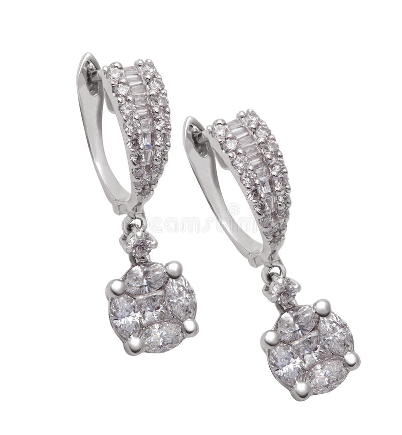 Brincos do diamante fotos de stock royalty free