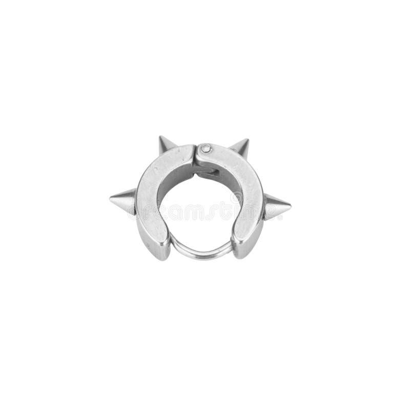 Brincos piercing isolados no fundo branco fotos de stock royalty free