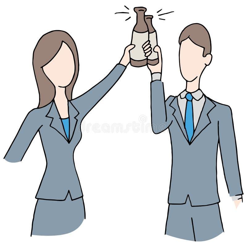 Brindando o negócio de negócio ilustração royalty free