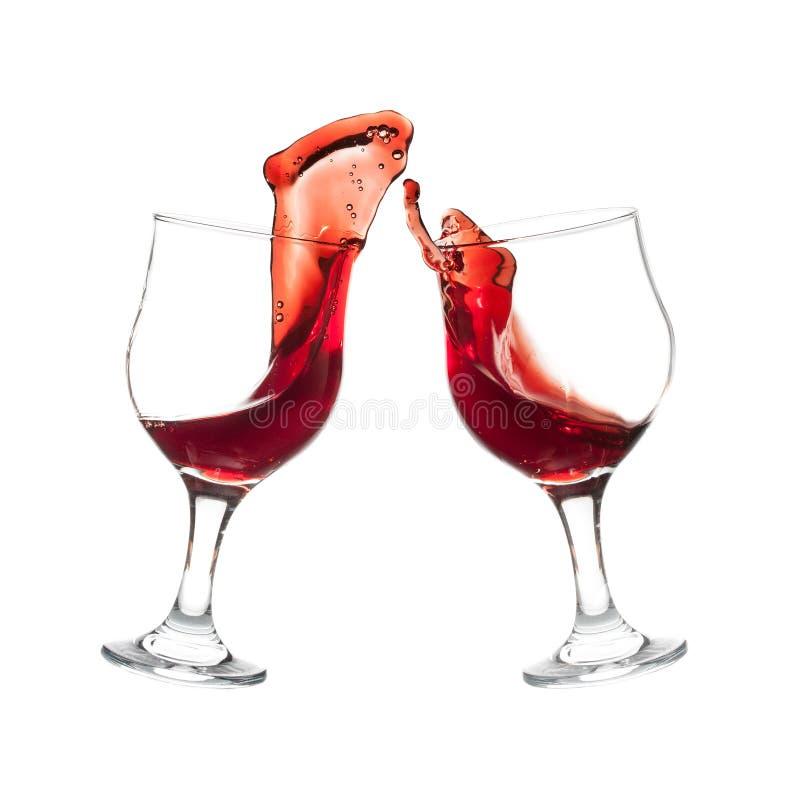 Brinde com vinho tinto fotografia de stock royalty free