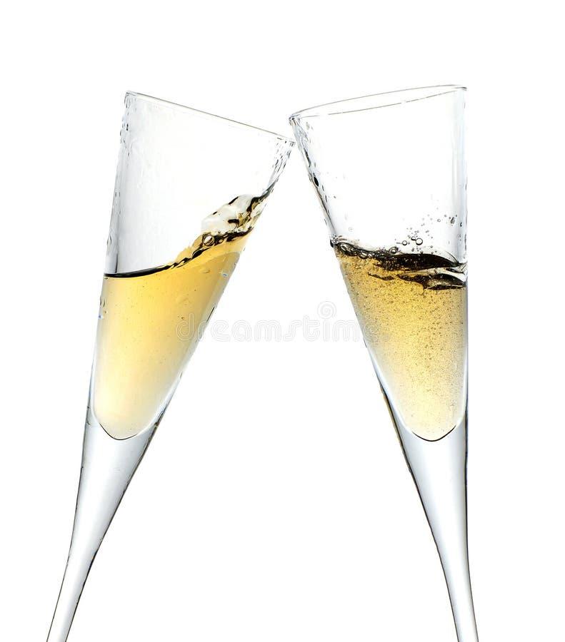 Brinde da celebração com champanhe imagem de stock royalty free